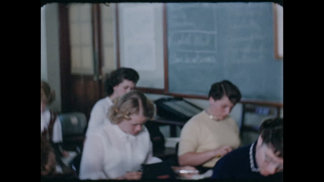 footage from a girl's class in an american high school circa 1950 - children only stock videos & royalty-free footage