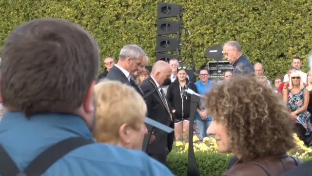 footage from a memorial service at aberdeen's hazlehead park remembering the victims of the piper alpha disaster 30 years ago. includes interview... - alpha cell stock videos & royalty-free footage