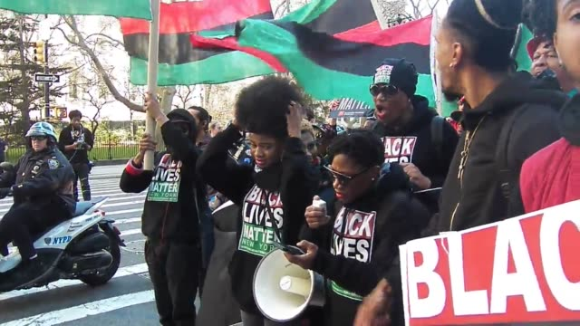 footage from black lives matter of greater new york find our girls march - aktivist stock-videos und b-roll-filmmaterial