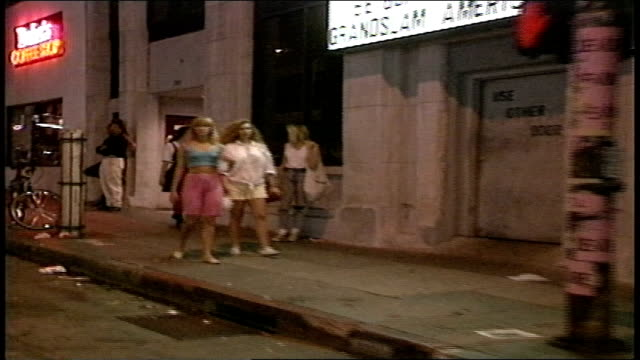 POV Footage From Car of Los Angeles Street Life in 1988