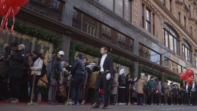 footage from harrods' boxing day sales, includes an interview with the managing director of harrods, michael ward. - sale stock videos & royalty-free footage