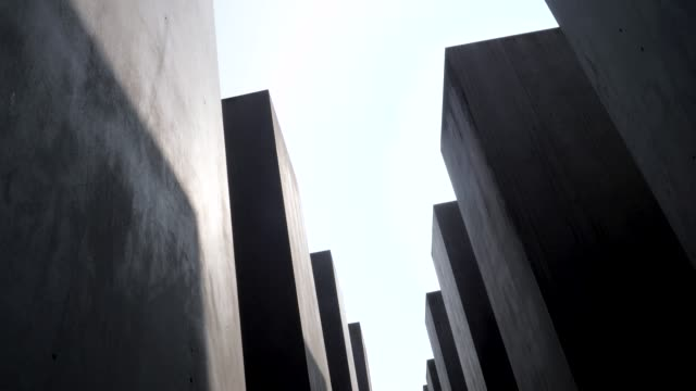 footage from holocaust memorial berlin germany memorial to the murdered jews of europe - genocide stock videos & royalty-free footage