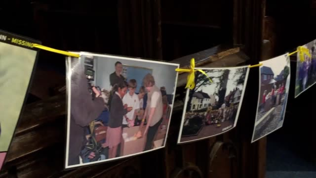 Footage from inside Rothley Parish Church Leicestershire as a service is due to be held to remember missing children on the tenth anniversary of...
