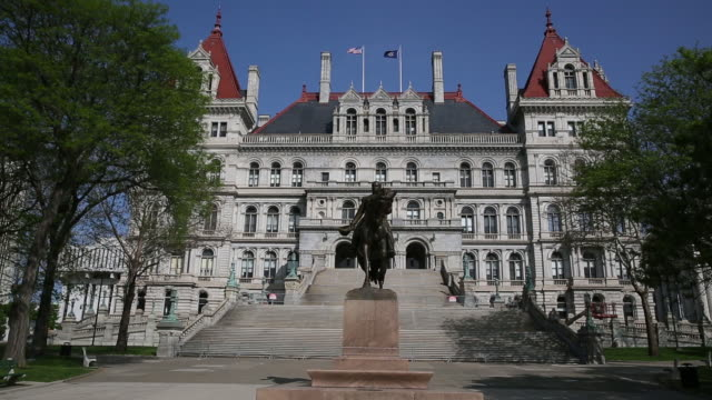 footage from new york state capitol outdoors and indoors albany new york state usa on wednesday may 22 2019 - albany new york state stock videos & royalty-free footage