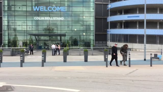 Footage from outside the Etihad Stadium Manchester where familes have been asked to gather