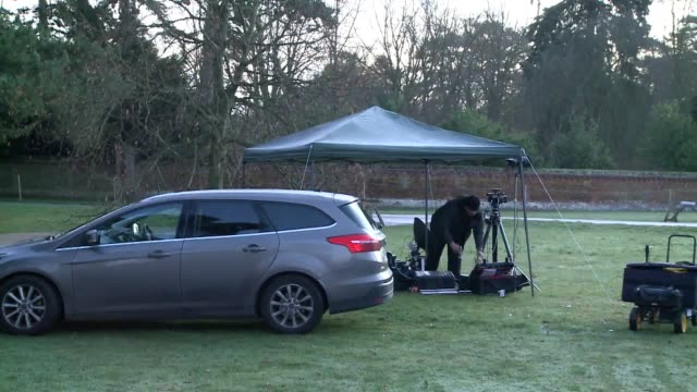 footage from outside the queen's private sandringham estate where the world's media have set up camp ahead of a crisis talks meeting between the... - meeting stock videos & royalty-free footage