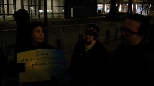 Footage from rally took place today outside the Federal Building on Broadway in New York City the rally which is part of a long fight to free Oscar...