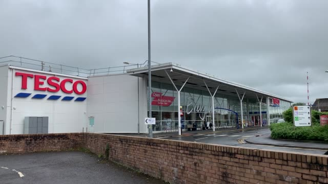 footage from tesco in lockerbie scotland an alleged blackmailer bought wine and flowers for his wife after planting a jar of baby food containing... - galloway scotland stock videos & royalty-free footage