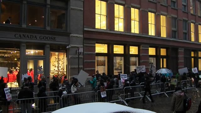 Footage from the AntiFur March Action at Canada Goose Store New York City on January 14th 2016 In New York City an animal rights organization held...