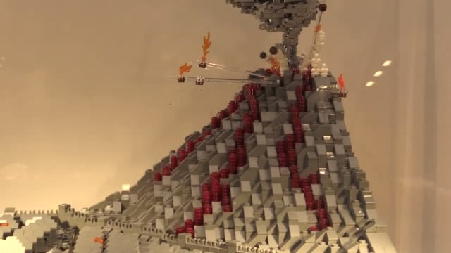 footage from the brick history's exhibition which opens at hull history centre on 11/01/19 and uses lego to recreate some of the key moments in world... - army video stock e b–roll