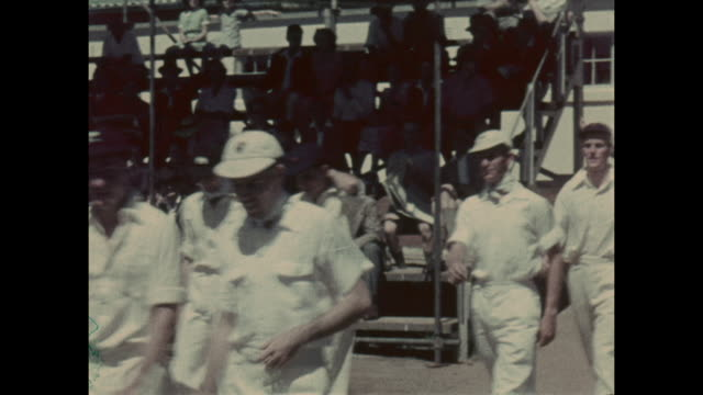 footage from the british timken cricket tour of south africa, featuring jock livingston batting, circa february 1951. in 1898 the timken industrial... - 1898 stock videos & royalty-free footage