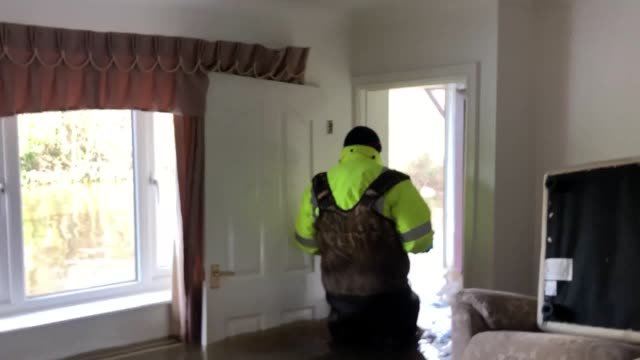 footage from the floodhit village of east cowick in yorkshire where the water levels are expected to remain high for several days the downpours which... - damaged stock videos & royalty-free footage