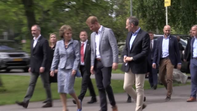 Footage from the launch of the 2020 Invictus Games with the Duke of Sussex in attendance a day after he and the Duchess of Sussex showed off Archie...