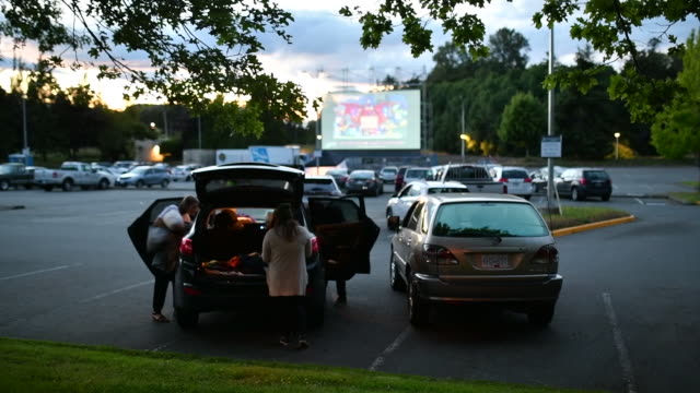 footage from the legacy drivein it was created in response to the covid19 pandemic and is just one of many drive in's that have popped up as... - film screening stock videos & royalty-free footage