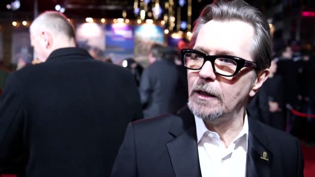 Footage from the premiere and interview with the cast and director of Darkest Hour including Gary Oldman who's just been nominated for a Golden Globe...