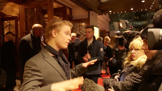 Footage from the red carpet as Broadway hit musical Hamilton opens in London Includes interviews with Bryan Cranston Ronnie Wood LinManuel Miranda...