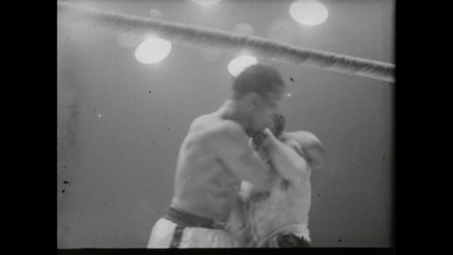 footage from the sugar ray robinson vs carmen basilio middleweight world championship title fight in chicago stadium chicago on march 25th 1958... - world championship stock videos and b-roll footage