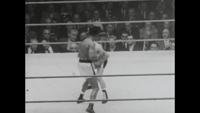 footage from the sugar ray robinson vs carmen basilio middleweight world championship title fight in chicago stadium chicago on march 25th 1958... - world championship stock videos & royalty-free footage