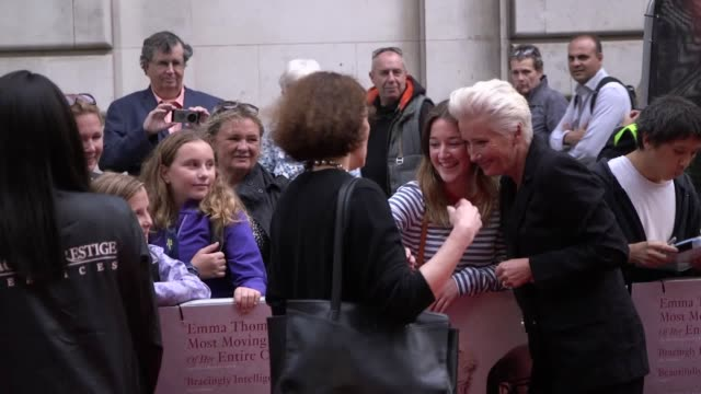 footage from the uk premiere of the children act includes interviews with stars emma thompson and fionn whitehead as well as director richard eyre - emma thompson stock videos & royalty-free footage