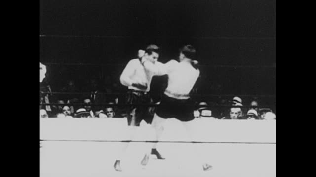 footage from the world heavyweight championship bout fought by gene tunney vs tom heeney in yankee stadium new york on 26th july 1928 tunney beat... - world championship stock videos and b-roll footage