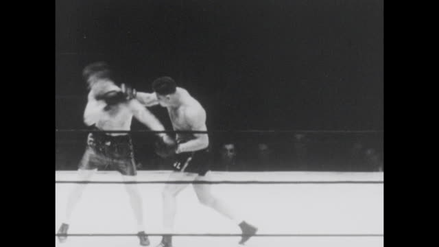 footage from the world heavyweight championship bout fought by joe louis vs al ettore at the municipal stadium philadelphia pa on september 22nd 1936 - world championship stock videos & royalty-free footage