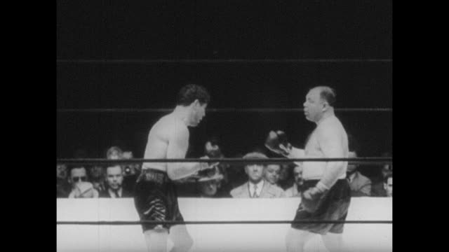 footage from the world heavyweight championship bout fought by max baer vs tony galento on the 2nd july 1940 - world championship stock videos & royalty-free footage