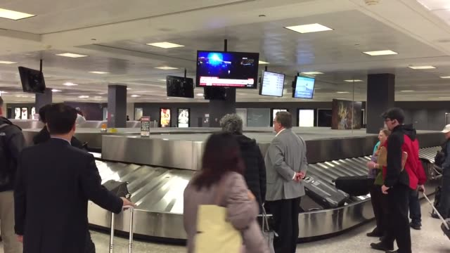 footage from washington dulles international airport friday 11/13/15 2100 est additional security officers were on duty displaced passengers from... - dulles international airport stock videos and b-roll footage