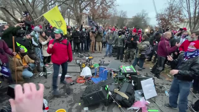 footage from wednesday, jan. 6, when hundreds of donald trump supporters heldviolent protests, shows some of them as they destroyed the equipment of... - congress stock videos & royalty-free footage