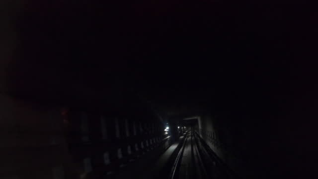 4k footage hyper lapse  light in the tunnel from mrt malaysia. - station stock-videos und b-roll-filmmaterial