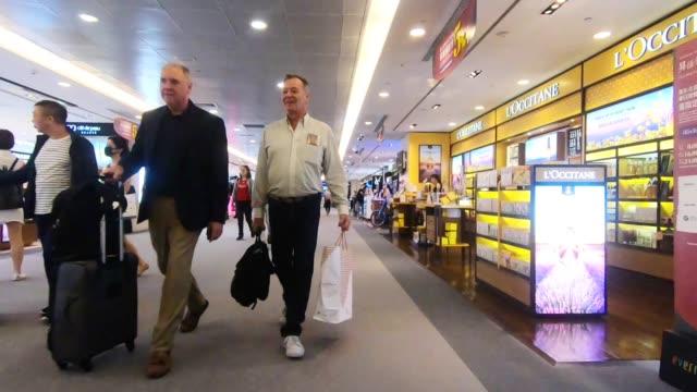 footage hyperlapse of crowd people walking in taoyuan international airport taipei taiwan - airport terminal stock videos & royalty-free footage