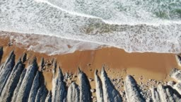 4K footage of a beach from above