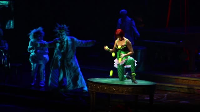 footage of a cirque du soleil show at aria hotel casino las vegas nevada october 10th 2015 no - cirque du soleil stock videos & royalty-free footage