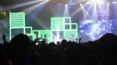 footage of a crowd partying, dancing at a concert - live event stock videos & royalty-free footage