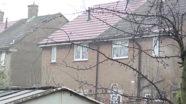 Footage of a forensic tent in the back garden of 19 Matlock Road Stockport as a woman told police she had killed a man and buried him in a garden She...