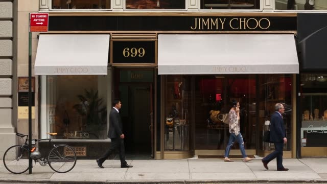 6278400ad776 Footage of a Jimmy Choo store on Madison Avenue in New York NY on July 25