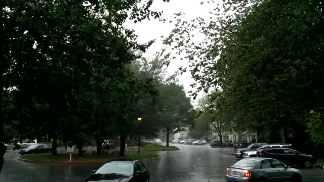 footage of a rainstorm in laurel maryland - laurel maryland stock videos & royalty-free footage