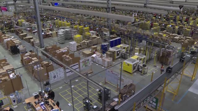 footage of amazon's website packaging center and headquarters - headquarters stock videos & royalty-free footage