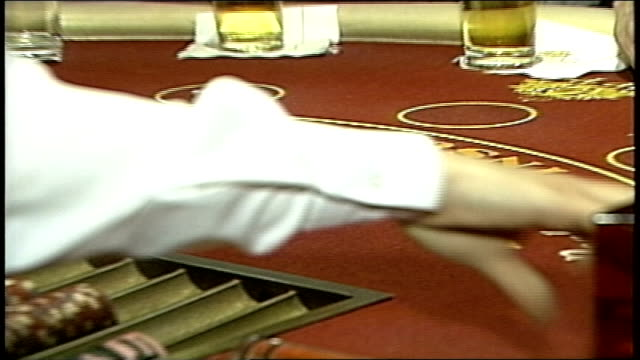 footage of black jack table and dealer - atlantic city stock videos & royalty-free footage