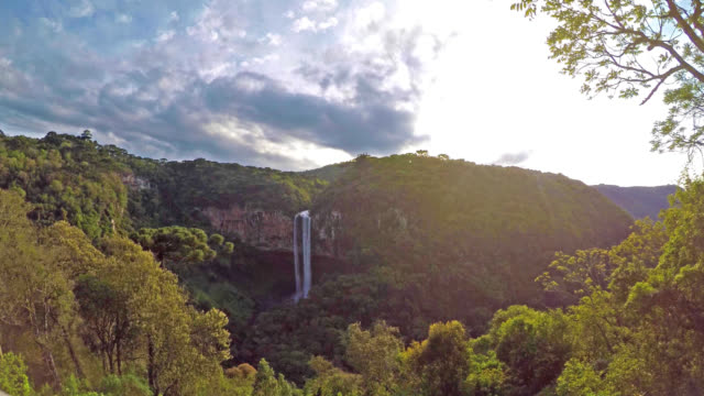 4k footage of caracol falls (brazil) - caracol stock videos and b-roll footage