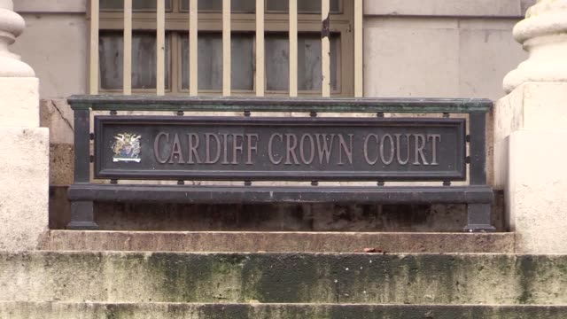 Footage of Cardiff Crown Court where Andrew Saunders has been jailed for a minimum of 23 years and four months for murdering his exgirlfriend Zoe...