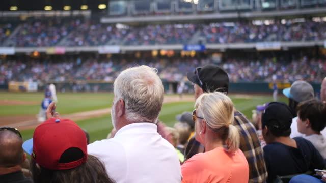 Footage of crowd appluase at the Salt Lake Bees vs Las Vegas at Smith's Ball park in Salt Lake City Utah