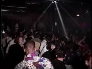 footage of crowd dancing in nightclub - 1990 stock videos & royalty-free footage