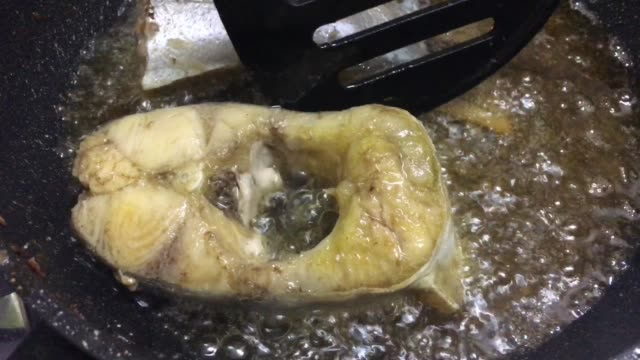 footage of deep frying fish fillets in a pan - vitamin a nutrient stock videos & royalty-free footage
