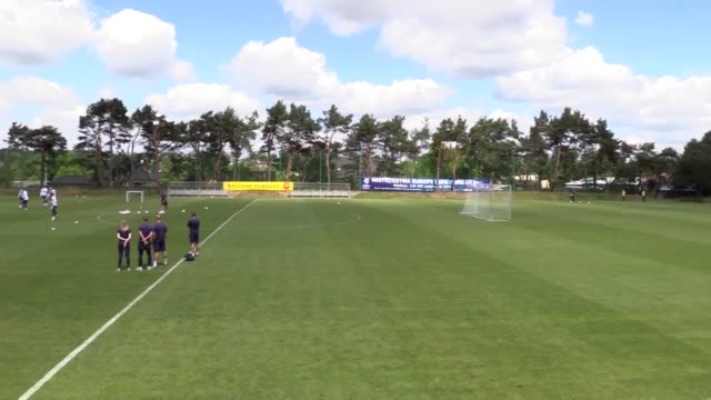 Footage of England Under 21's open training in Kielce on Thursday ahead of Friday's Euro 2017 opener against Sweden