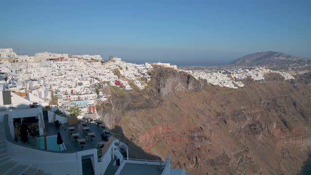 footage of fira and the caldera in santorini, greece - cyclades islands stock videos & royalty-free footage