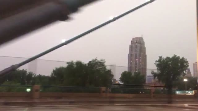 footage of flood damage after severe rain in minneapolis - condizione negativa video stock e b–roll