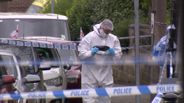 footage of forensic officers around the scene where the labour mp jo cox was attacked nnpw338h - murder stock videos & royalty-free footage