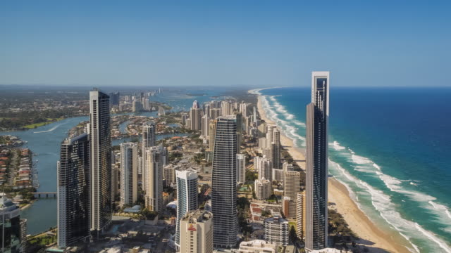 4K Footage of Gold Coast from an elevated point of view
