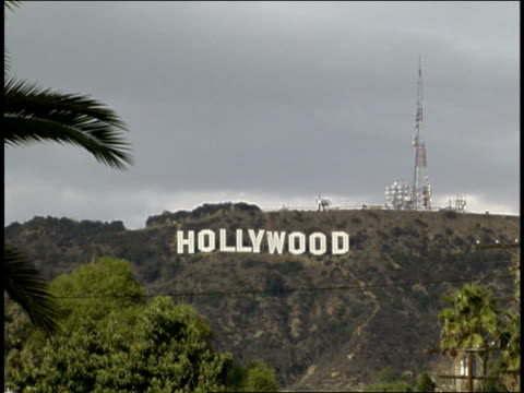 Footage of Hollywood Sign and Hollywood Hills with Pan Shots