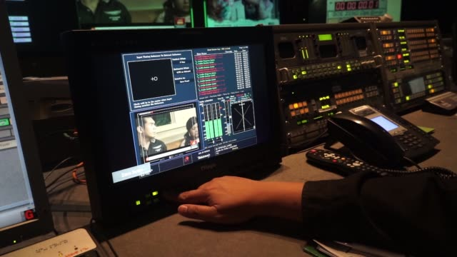 footage of inside of the television studio control room in astro malaysia holdings bhd's home shopping channel at the broadcaster's headquarters in... - radio studio stock videos & royalty-free footage